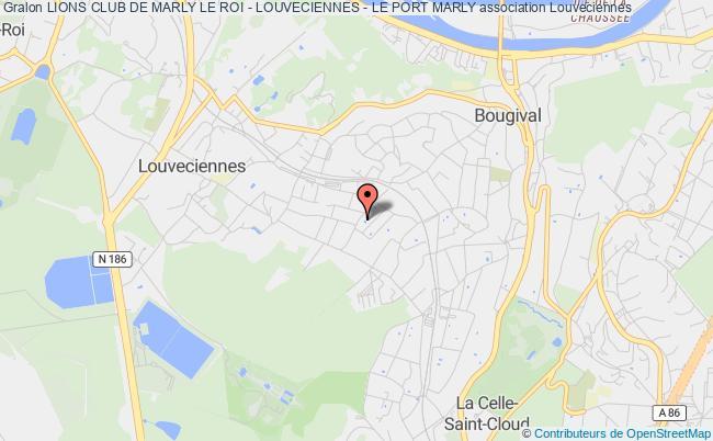 plan association Lions Club De Marly Le Roi - Louveciennes - Le Port Marly Louveciennes