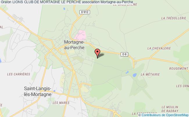 plan association Lions Club De Mortagne Le Perche