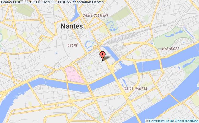 plan association Lions Club De Nantes Ocean