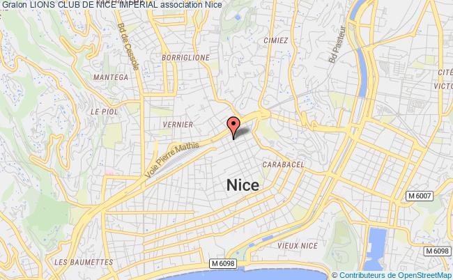 plan association Lions Club De Nice Imperial