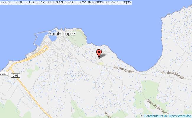plan association Lions Club De Saint Tropez Cote D'azur