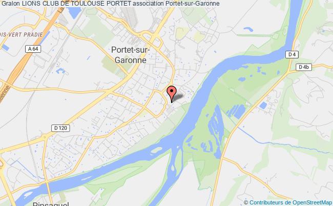 plan association Lions Club De Toulouse Portet