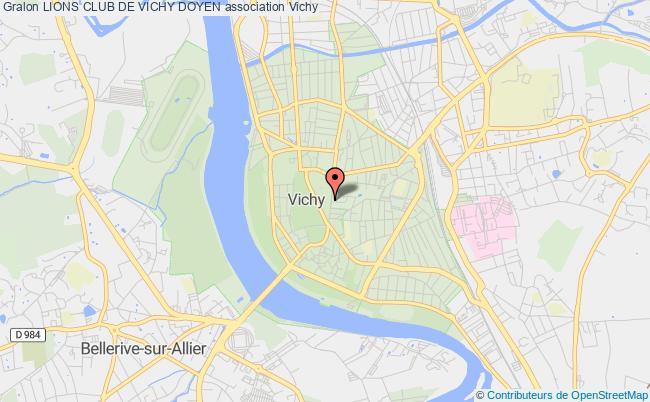 plan association Lions Club De Vichy Doyen