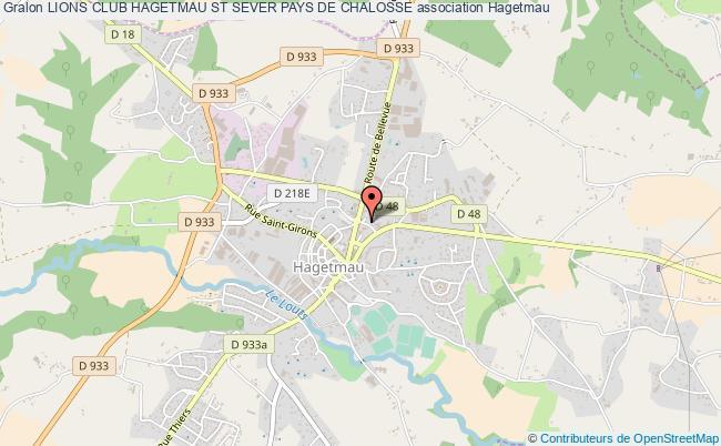 plan association Lions Club Hagetmau St Sever Pays De Chalosse