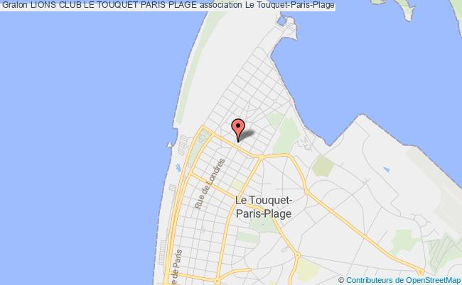 plan association Lions Club Le Touquet Paris Plage Le Touquet-Paris-Plage