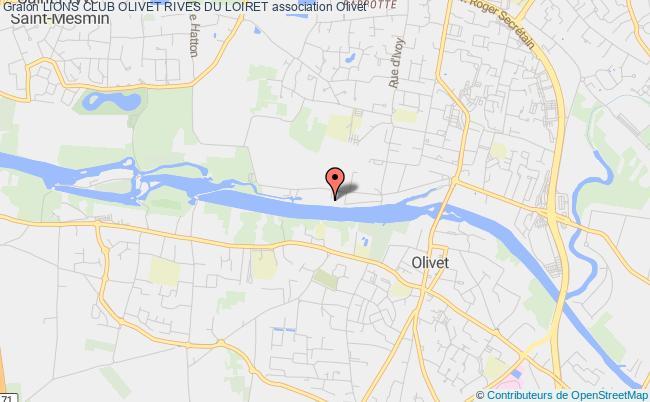 plan association Lions Club Olivet Rives Du Loiret