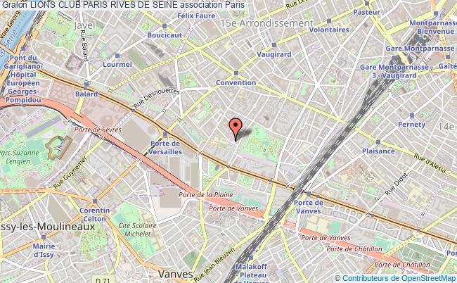 plan association Lions Club Paris Rives De Seine