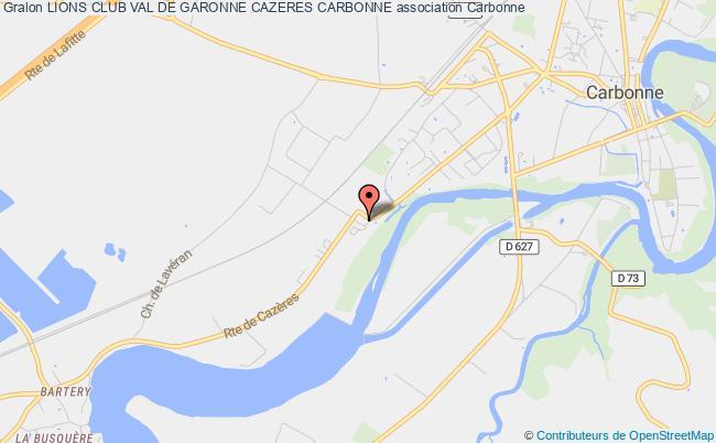 plan association Lions Club Val De Garonne Cazeres Carbonne