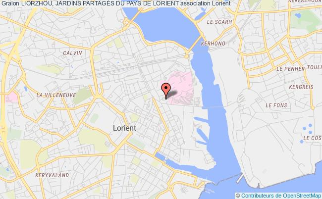 plan association Liorzhou, Jardins PartagÉs Du Pays De Lorient