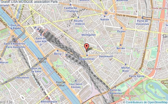 plan association Lisa Musique Paris