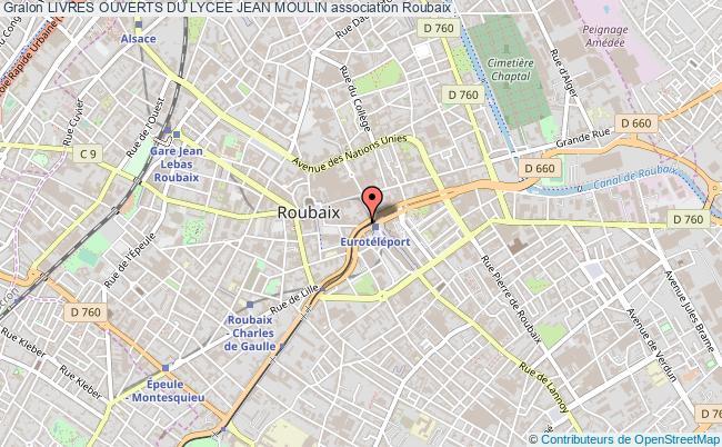 plan association Livres Ouverts Du Lycee Jean Moulin Roubaix