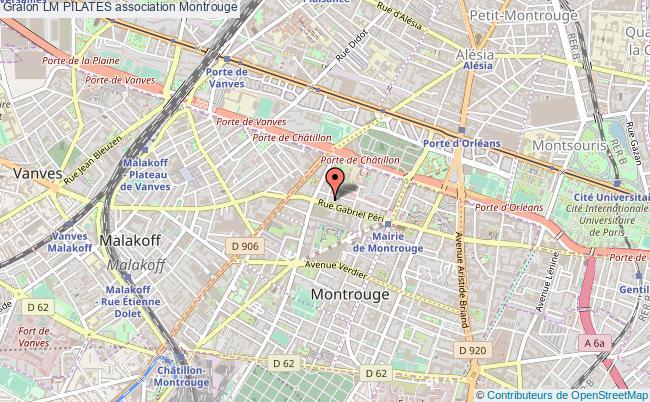 plan association Lm Pilates Montrouge