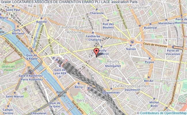 plan association Locataires Associes De Charenton Erard Pli Lace