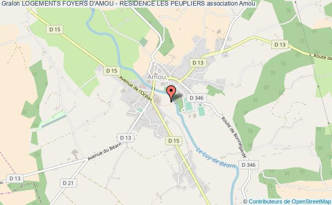 plan association Logements Foyers D'amou - Residence Les Peupliers