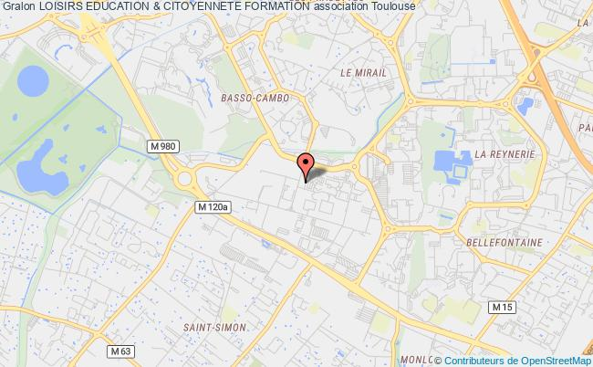 plan association Loisirs Education & Citoyennete Formation