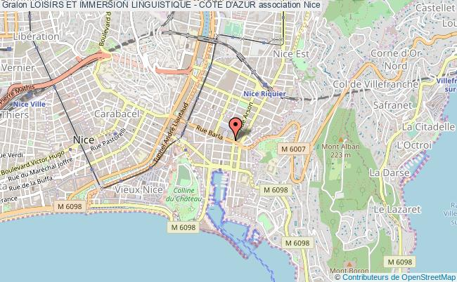 plan association Loisirs Et Immersion Linguistique - CÔte D'azur Nice