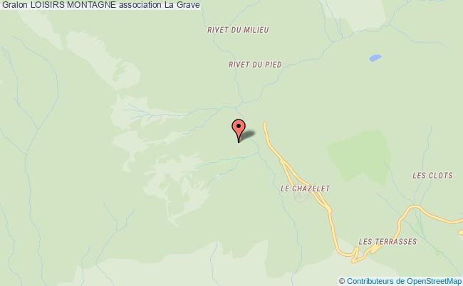 plan association Loisirs Montagne