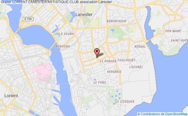 plan association Lorient Lanester Artistique Club