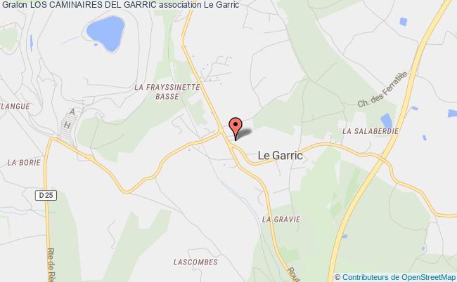 plan association Los Caminaires Del Garric
