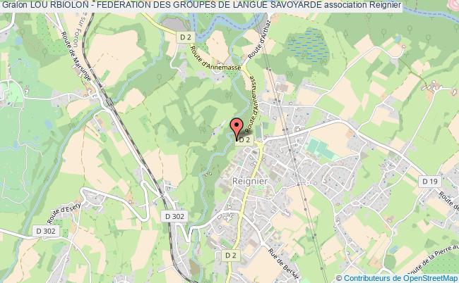plan association Lou Rbiolon - Federation Des Groupes De Langue Savoyarde