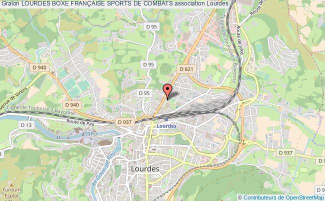 plan association Lourdes Boxe FranÇaise Sports De Combats