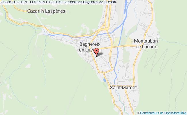 plan association Luchon - Louron Cyclisme Bagnères-de-Luchon