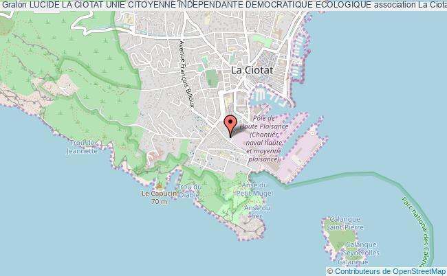 plan association Lucide La Ciotat Unie Citoyenne Independante Democratique Ecologique