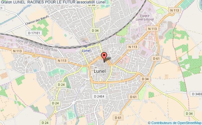 plan association Lunel  Racines Pour Le Futur