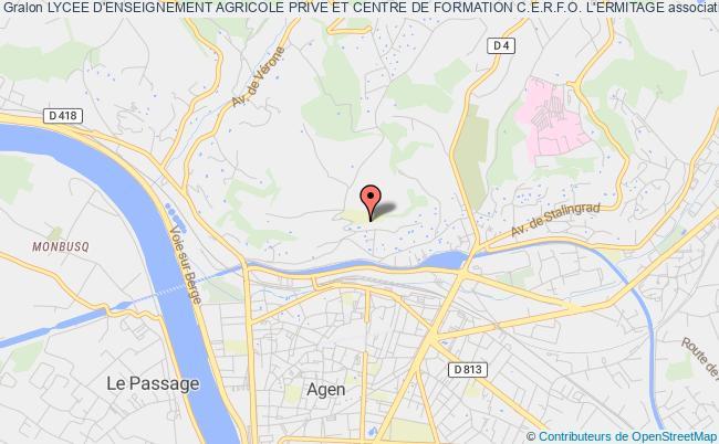 plan association Lycee D'enseignement Agricole Prive Et Centre De Formation C.e.r.f.o. L'ermitage