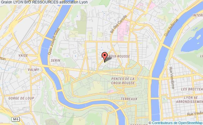 plan association Lyon Bio Ressources Lyon