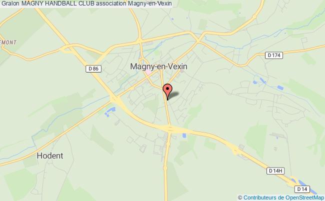 plan association Magny Handball Club Magny-en-Vexin