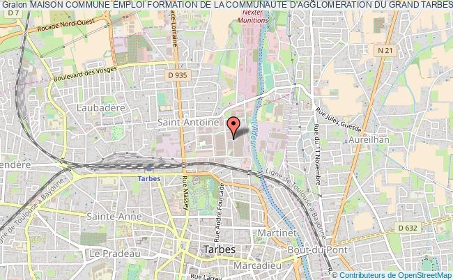 plan association Maison Commune Emploi Formation De La Communaute D'agglomeration Du Grand Tarbes Tarbes