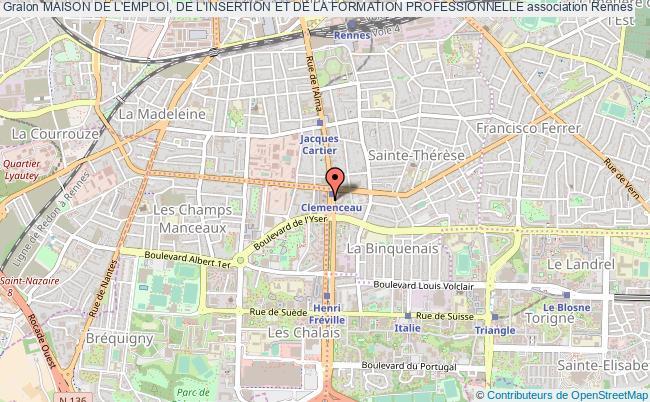 plan association Maison De L'emploi, De L'insertion Et De La Formation Professionnelle Rennes