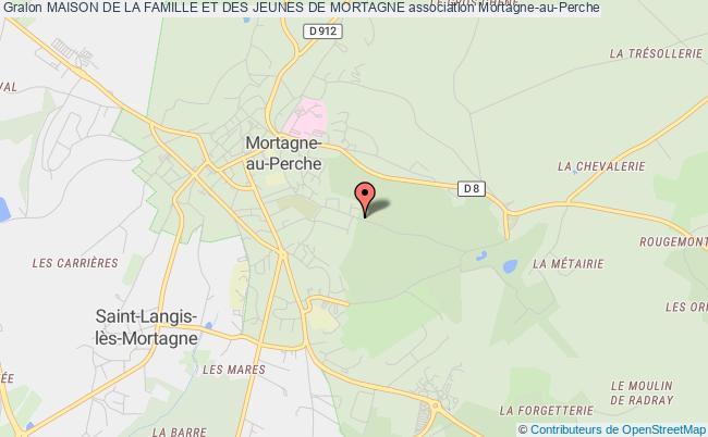 plan association Maison De La Famille Et Des Jeunes De Mortagne