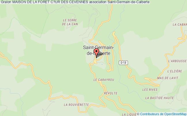 plan association Maison De La Foret C?ur Des Cevennes
