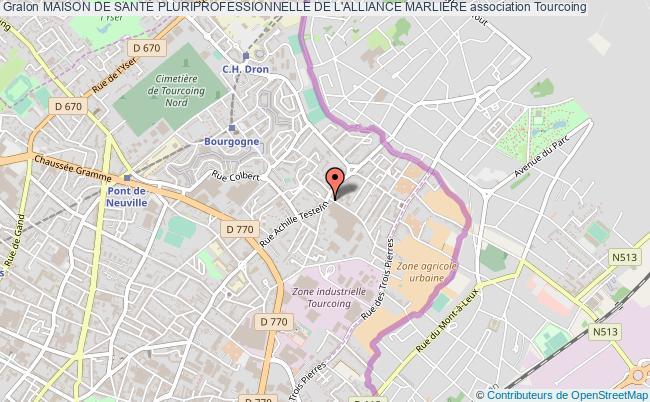 plan association Maison De SantÉ Pluriprofessionnelle De L'alliance MarliÈre