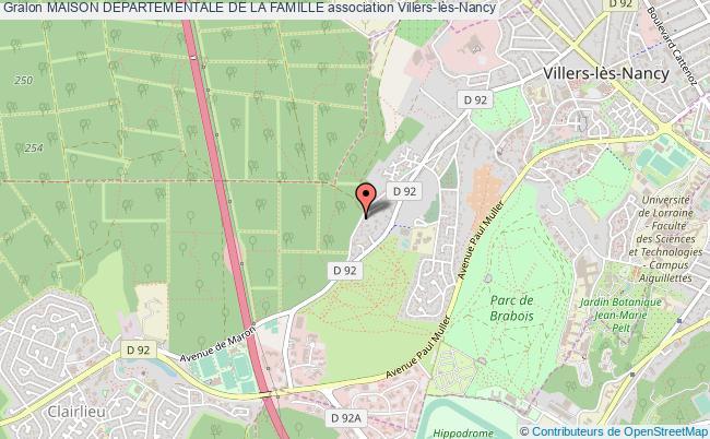 plan association Maison Departementale De La Famille