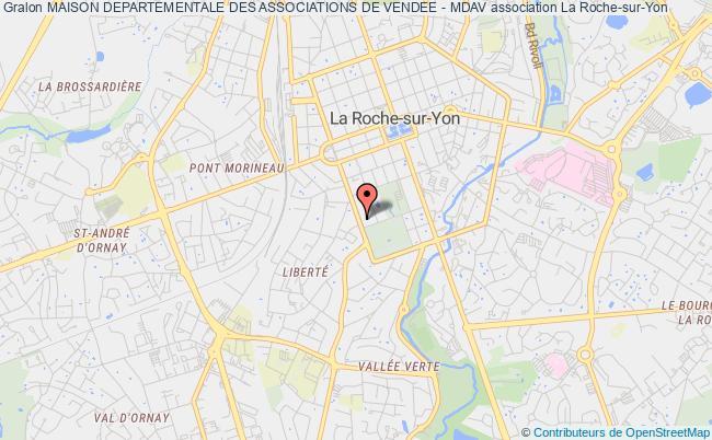 plan association Maison Departementale Des Associations De Vendee - Mdav La    Roche-sur-Yon
