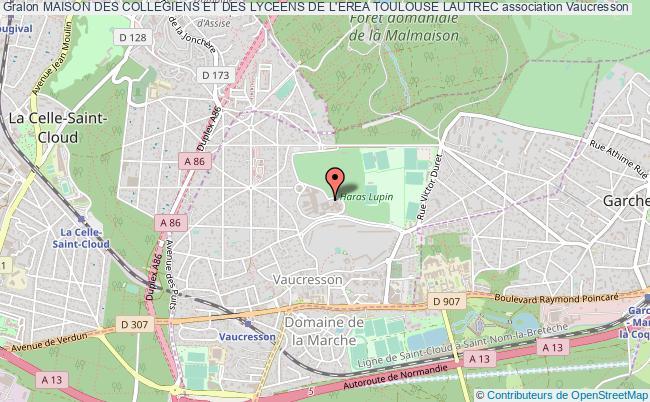 plan association Maison Des Collegiens Et Des Lyceens De L'erea Toulouse Lautrec Vaucresson