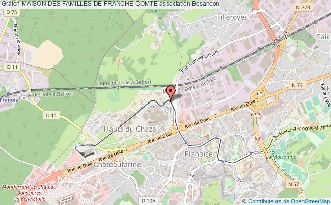 plan association Maison Des Familles De Franche-comte