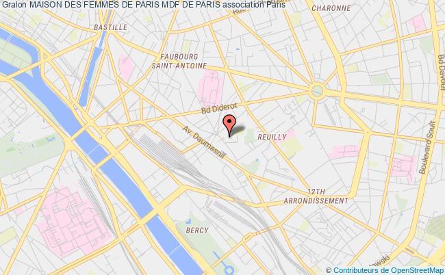 plan association Maison Des Femmes De Paris Mdf De Paris Paris