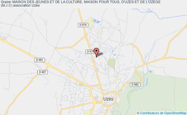 plan association Maison Des Jeunes Et De La Culture, Maison Pour Tous, D'uzes Et De L'uzege (m.j.c) Uzès
