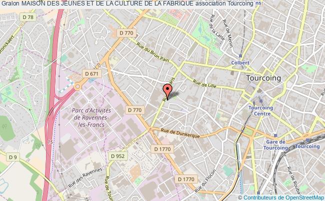 plan association Maison Des Jeunes Et De La Culture De La Fabrique