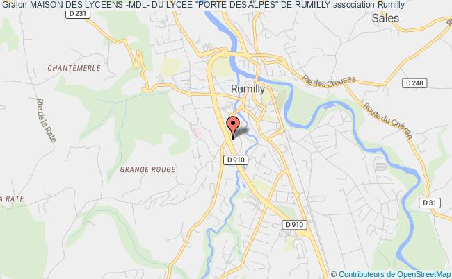 "plan association Maison Des Lyceens -mdl- Du Lycee ""porte Des Alpes"" De Rumilly Rumilly"