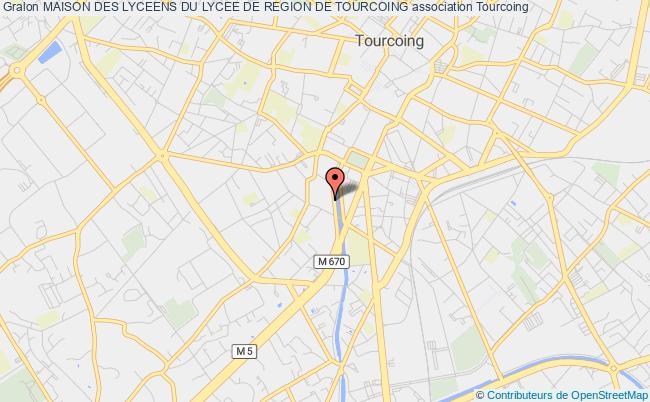 plan association Maison Des Lyceens Du Lycee De Region De Tourcoing