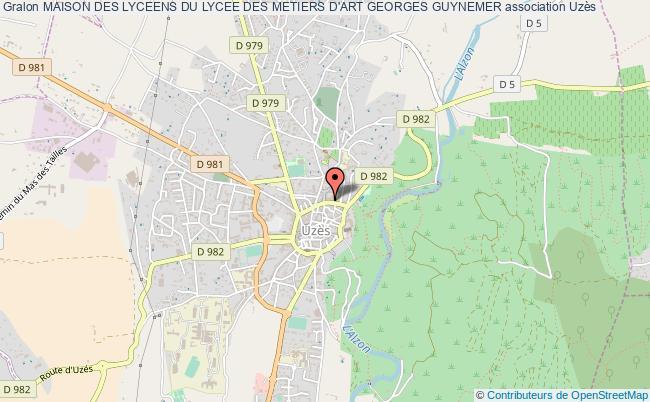 plan association Maison Des Lyceens Du Lycee Des Metiers D'art Georges Guynemer Uzès