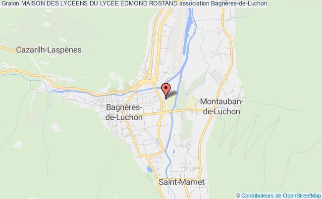 plan association Maison Des LycÉens Du LycÉe Edmond Rostand Bagnères-de-Luchon