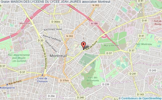 plan association Maison Des LycÉens Du LycÉe Jean JaurÈs