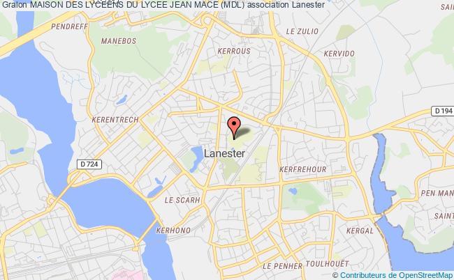 plan association Maison Des Lyceens Du Lycee Jean Mace (mdl)