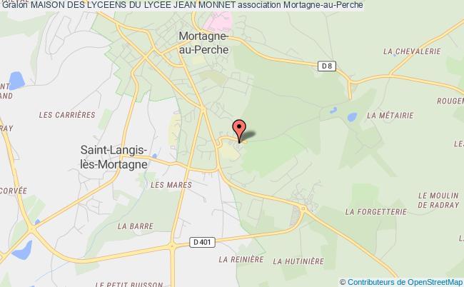 plan association Maison Des Lyceens Du Lycee Jean Monnet